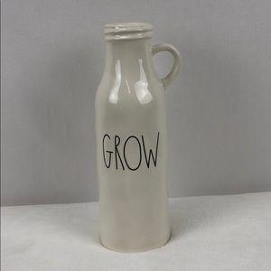 Rae Dunn milk jug GROW flower vase